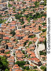 Town of Kalambaka view from Meteora rocks, Greece