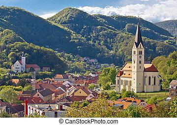 Town of Krapina panoramic view