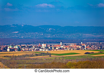 Town of Krizevci and Kalnik mountain, Prigorje, Croatia