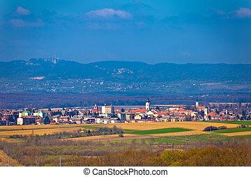 Town of Krizevci and Kalnik mountain, Prigorje, Croatia