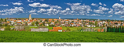 Town of Krizevci colorful panorama - Historic Town of...
