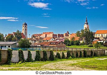 Town of Krizevci in Prigorje region of Croatia