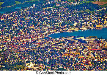 Town of Lucerne aerial view