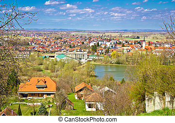 Town of Ludbreg springtime view