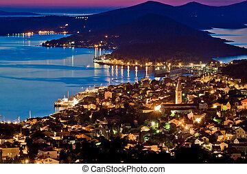 Town of Mali Losinj bay at sunset, Croatia, Dalamatia