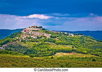 Town of Motovun on picturesque hill, Istria, Croatia