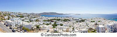town of Mykonos island