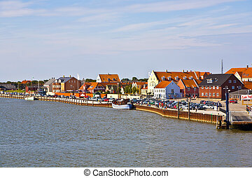 town of Nordby on the island of Fano in Denmark from seaside