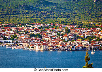 Town of Pirovac aerial view