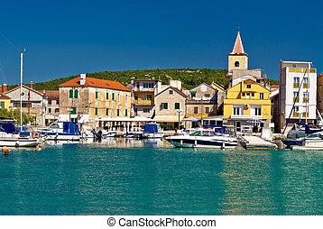 Town of Pirovac panoramic view