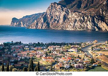 Town of Riva del Garda, Lake Garda, Italy.