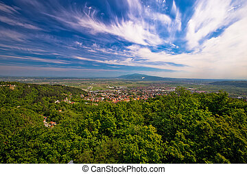 Town of Samobor aerial view