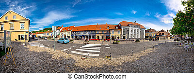 Town of Samobor main square panorama, northern Croatia