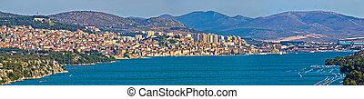 Town of Sibenik panoramic view