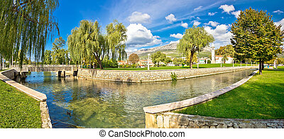 Town of Solin panoramic view