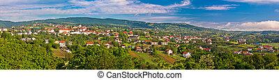 Town of Sveti Ivan Zelina panorama, Prigorje, Croatia