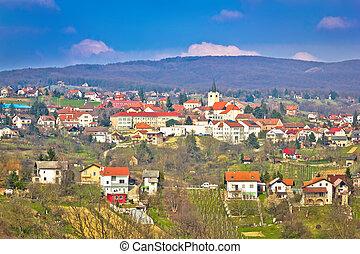 Town of Sveti Ivan Zelina view, Prigorje, Croatia
