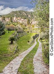 Town of valldemossa in mallorca