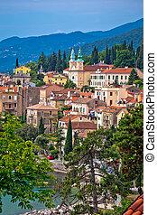 Town of Volosko in Kvarner bay view, Croatia