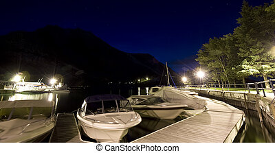 Town of Waterton at Night