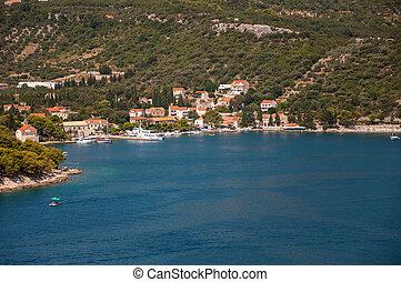 Town of Zaton in Croatia
