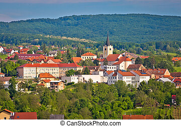 Town of Zelina in green nature view, Prigorje region of...