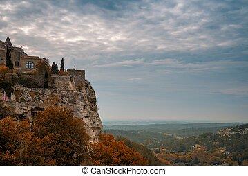 Town on a cliff, Les Baux-de-Provence, France