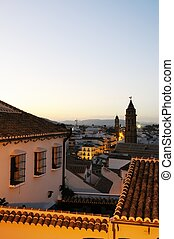 Town rooftops at dusk, Antequera.