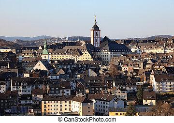 Town Siegen in North Rhine-Westphalia, Germany