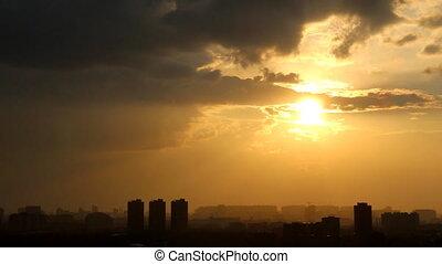 Town sunset