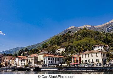 Town Tremezzina on Lake Como in Italy