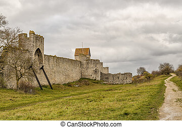 Town Wall in Visby, Sweden - Town Wall in Visby, Gotland in ...