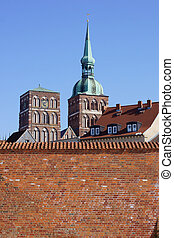 Town wall Stralsund - The photograph of the town wall of ...