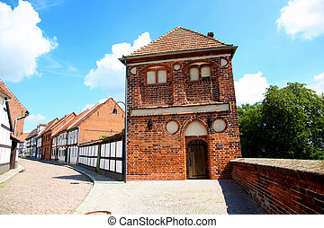 Town Wall Tangermuende - the Town Wall in Tangermuende at ...