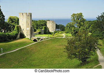 Town Wall - The medieval town-wall of Visby.