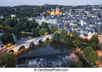 Town Wetzlar at dusk, Germany