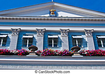 Townhall of Helsinki - detail of the townhall of Helsinki at...
