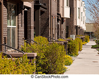 Townhome - Contemporary townhomes at Belmar, Colorado.