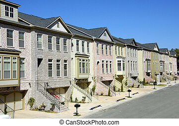 Townhomes - Completed townhomes for sale in new residential...