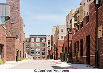 Townhomes - Contemporary townhomes in downtown Denver,...