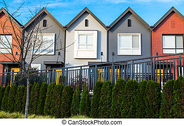 townhomes, development., beautifull, neu