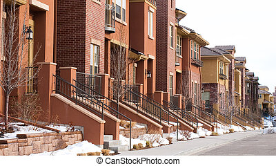 Townhomes - Urban townhomes.