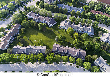 Townhouse Complex Aerial