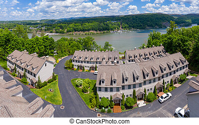 Townhouse development by Cheat Lake in Morgantown West ...