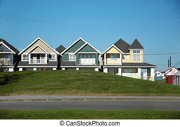 Townhouses - A row of townhouses (real estate)