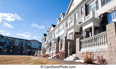 Townhouses - A row of townhomes in Denver, Colorado.