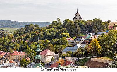 townscape, banska, slovakia., stiavnica