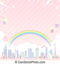 Townscape Spring_en_rainbow city square