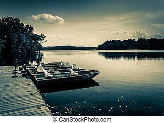 towson, bootjes, maryland., fjord, dok, reservoir, raaf