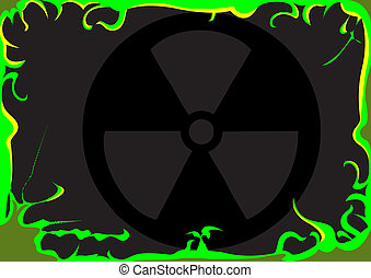 Toxic Background Image - Vector illustration of a toxic...